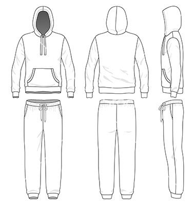 Sweat suit on VectorStock | technical drawing in 2019
