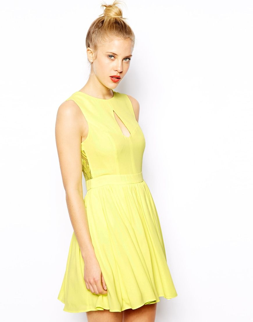Yellow dress wedding guest  Oasis Skater Dress  My Style  Pinterest  Oasis Summer wedding