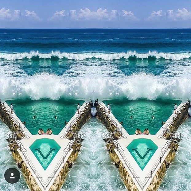(Loc) Posted on May 27 2016 at 02:23PM: Seeing double.  : @the_eist_project #everymoment #bondi #bondiicebergs #double #australia #ocean #waves #perfection #sydney #seeaustralia #friday by herwanderingeyes