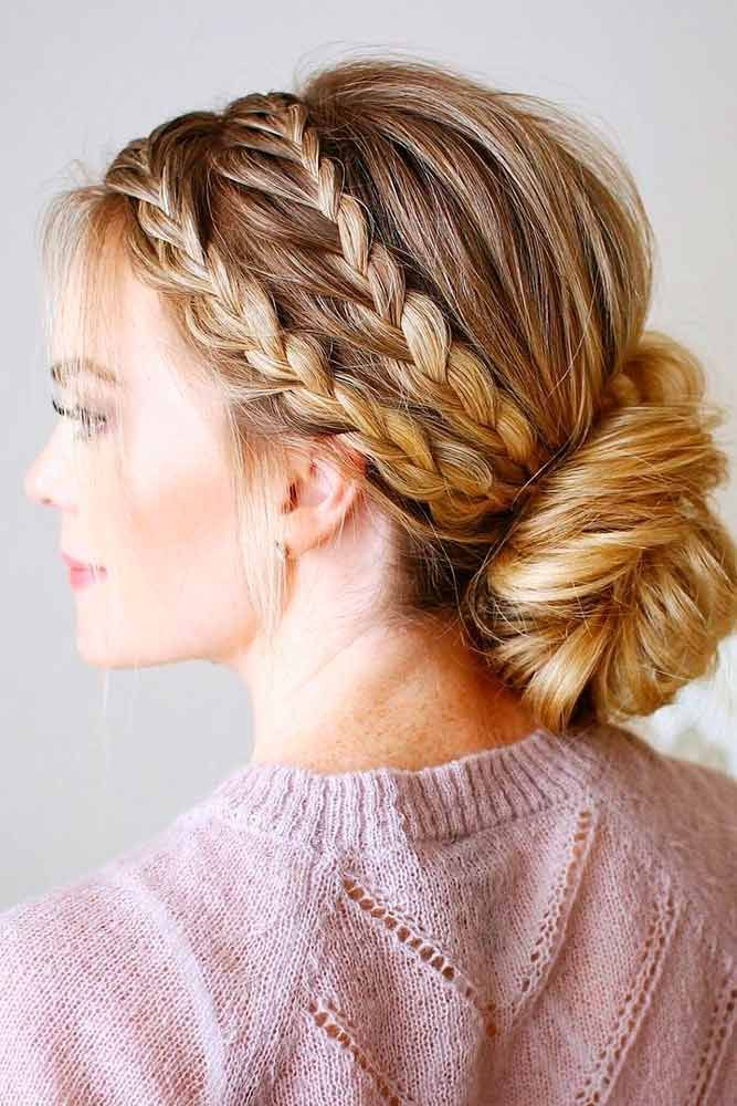 Amazing Braid Hairstyles For Christmas Party And Other Holidays See More Http Glaminati Com Christmas Par Hair Styles Braided Hairstyles Short Hair Styles