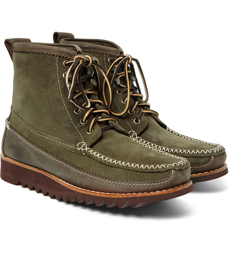 70471a6ba5c1 Bass Weejuns - Ranger Moc II Suede and Nubuck-Leather Boots ...