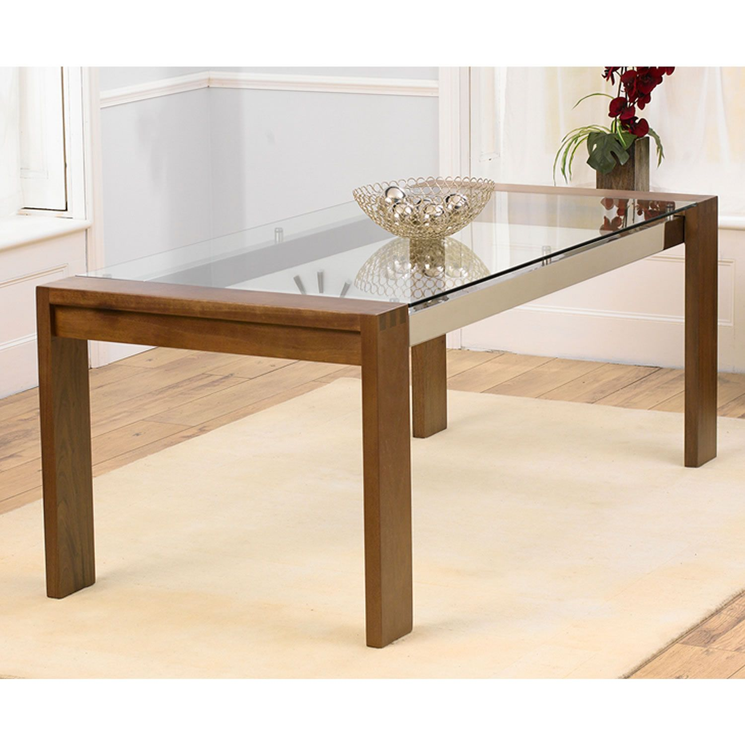 Image Result For Wooden Legs Glass Table Top Glass Top Dining