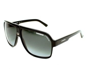 Carrera sunglasses for men, Carrera 33 807PT - 62. This pair of sunglasses  is made in Acetate Black with Gradient Grey lenses. UV filter   UV  protection  3. 17be10c8b20e
