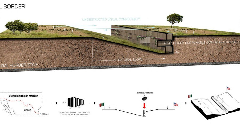Domo Architecture Design Sustainable Natural Border Design Architecture Us Mexico Border Wall Architecture Design