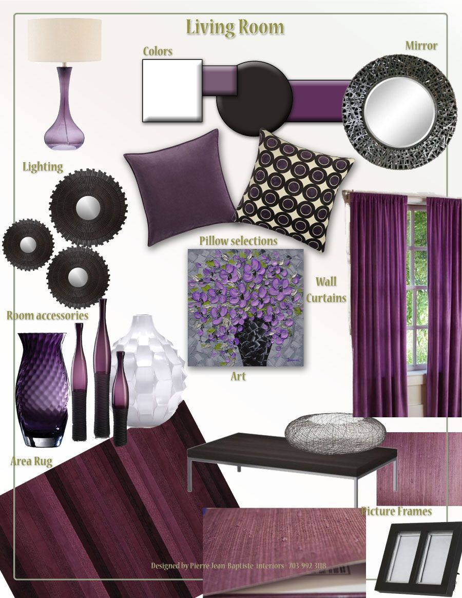 I\'m thinking plum palette for the living room. | Ideas for the home ...