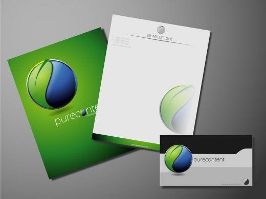 Pure Content Logo, Letterhead Examples Graphics Pinterest - letterhead examples