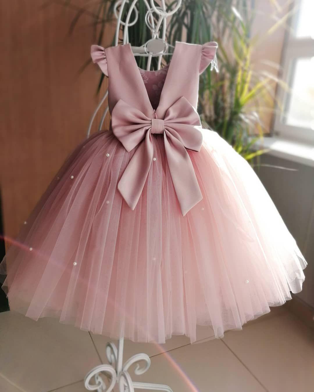 UK 6M-5T Flower Kids Girl Cute Tutu Baby Dress Princess Dress Party Outfits Gift