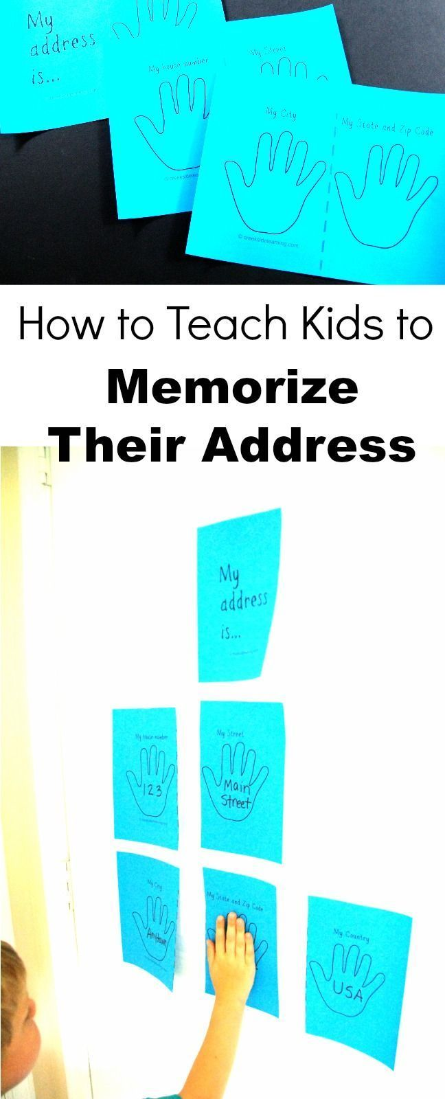 How to Teach Kids to Memorize Their Address and Phone Number ...