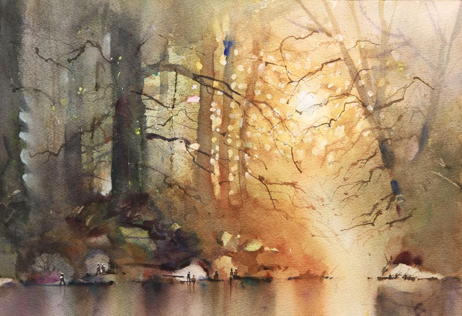 Rex Beanland Leighton Experimental Workshop Watercolor