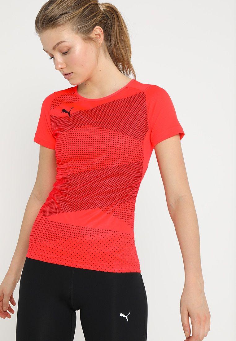 Puma Camiseta Estampada Red Blast Zalando Es Ropa Deportiva Adidas Ropa Para Gimnasio Ropa Fitness