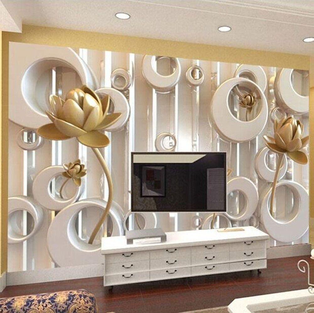 3d Wallpaper Bedroom Mural Roll Modern Luxury Embossed