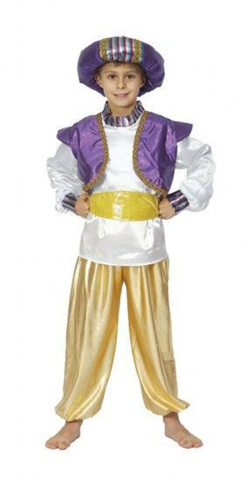 14ec7b357c1661 BOYS ALADDIN GENIE SULTAN BOY FANCY DRESS UP COSTUME BOOK WEEK - SIZES S -  M - L #Dress