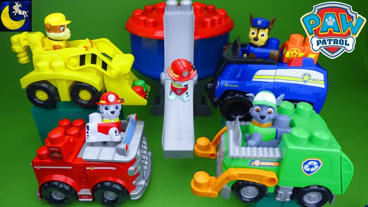Paw Patrol Ionix Toys Chase S Cruiser Rubble S Digger Rocky S Recycling Truck Lookout Tower Playset Youtube Best Kids Toys Playset Lookout Tower