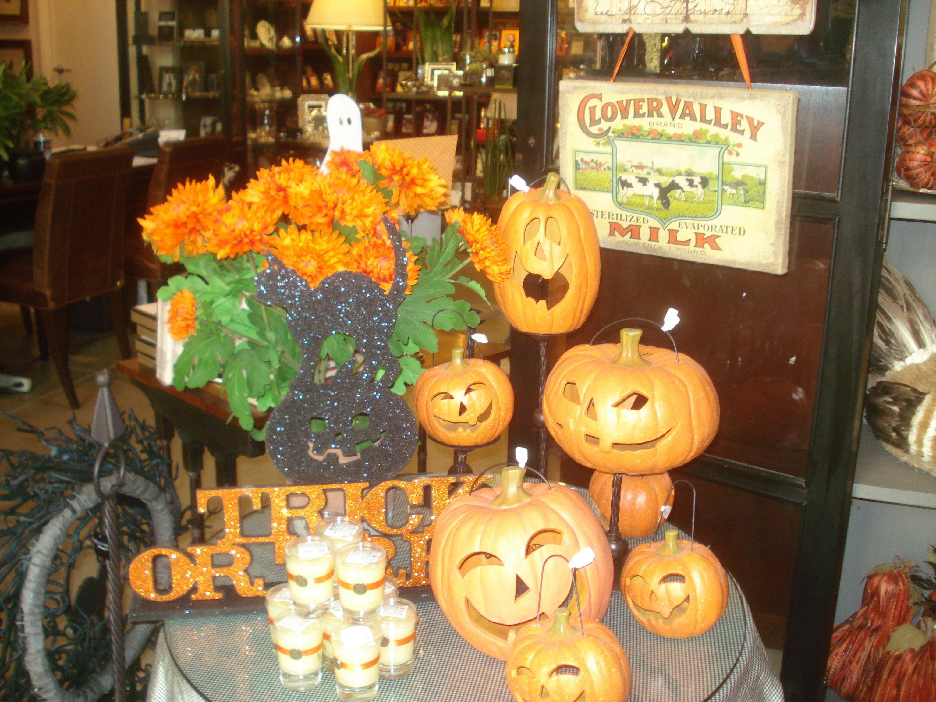 """salutations home halloween store display 