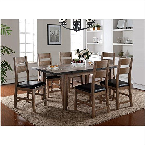 Rustique Resto Dining Table With Nail Head Trim In Natural Table Dining Table Dining