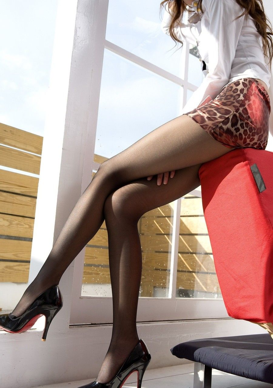 Pantyhose nylons and boots