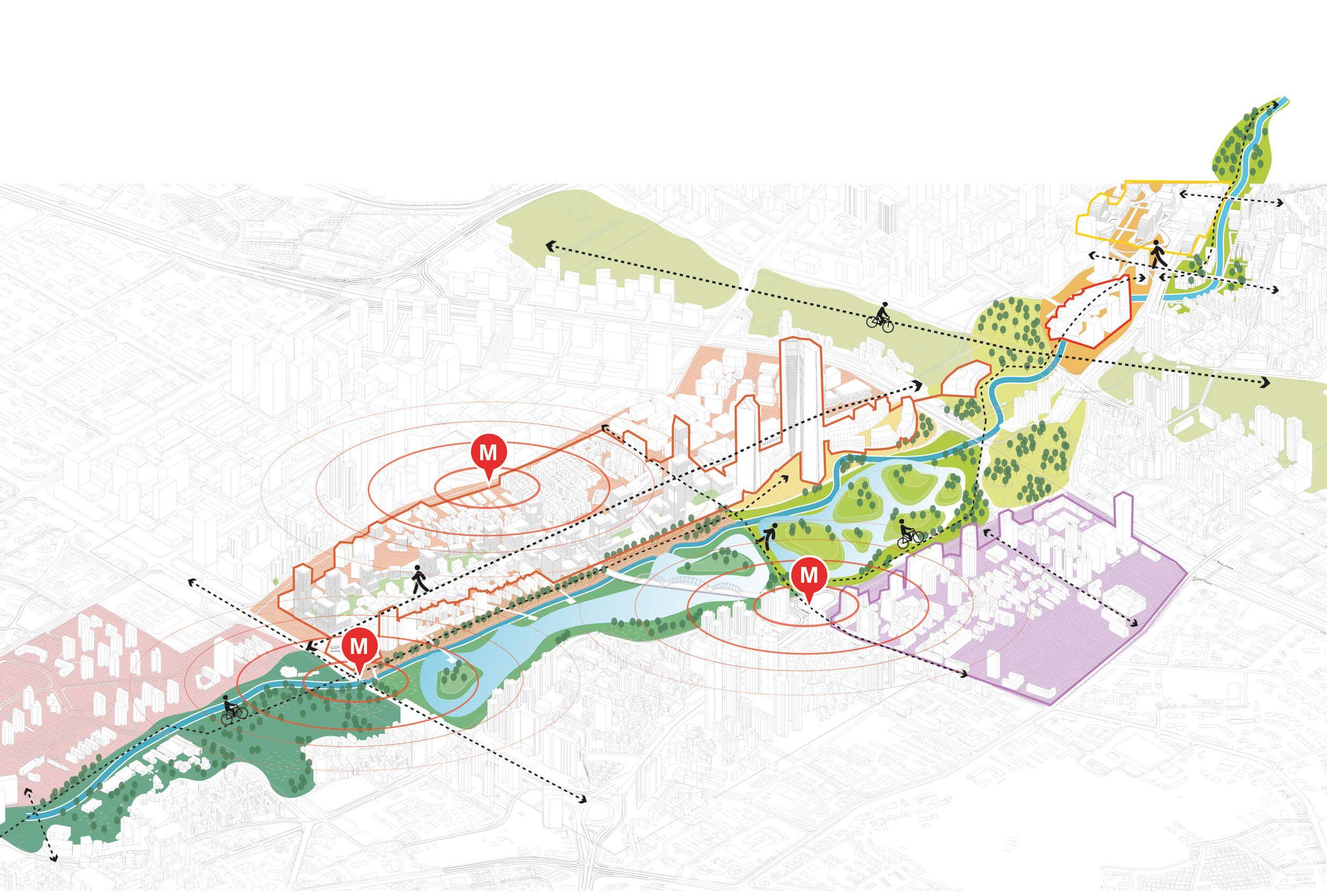 Buji River Felixx Architecture Presentation Board Urban