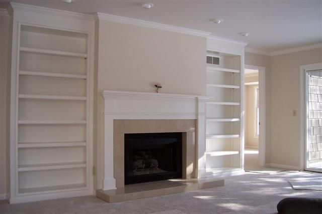 Built In Open Shelving Around Fireplace Google Search