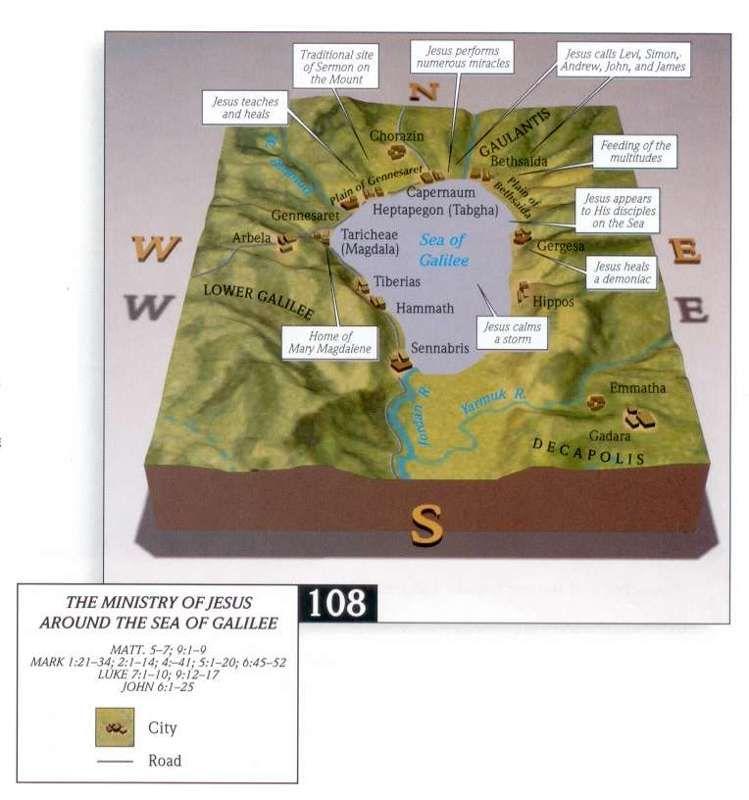 Bible Maps of Sea of Galilee