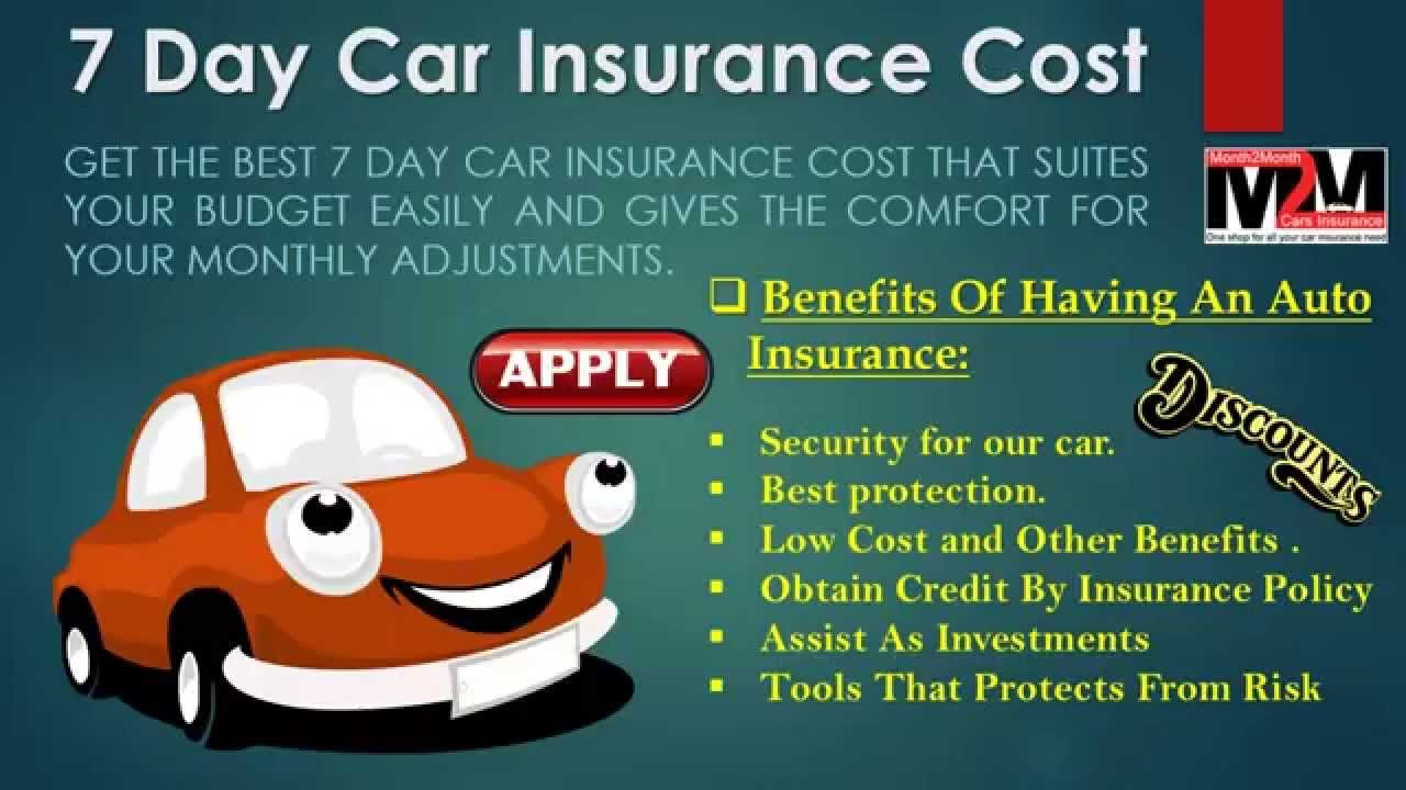 7 Day Car Insurance Cheap Car Insurance Car Insurance
