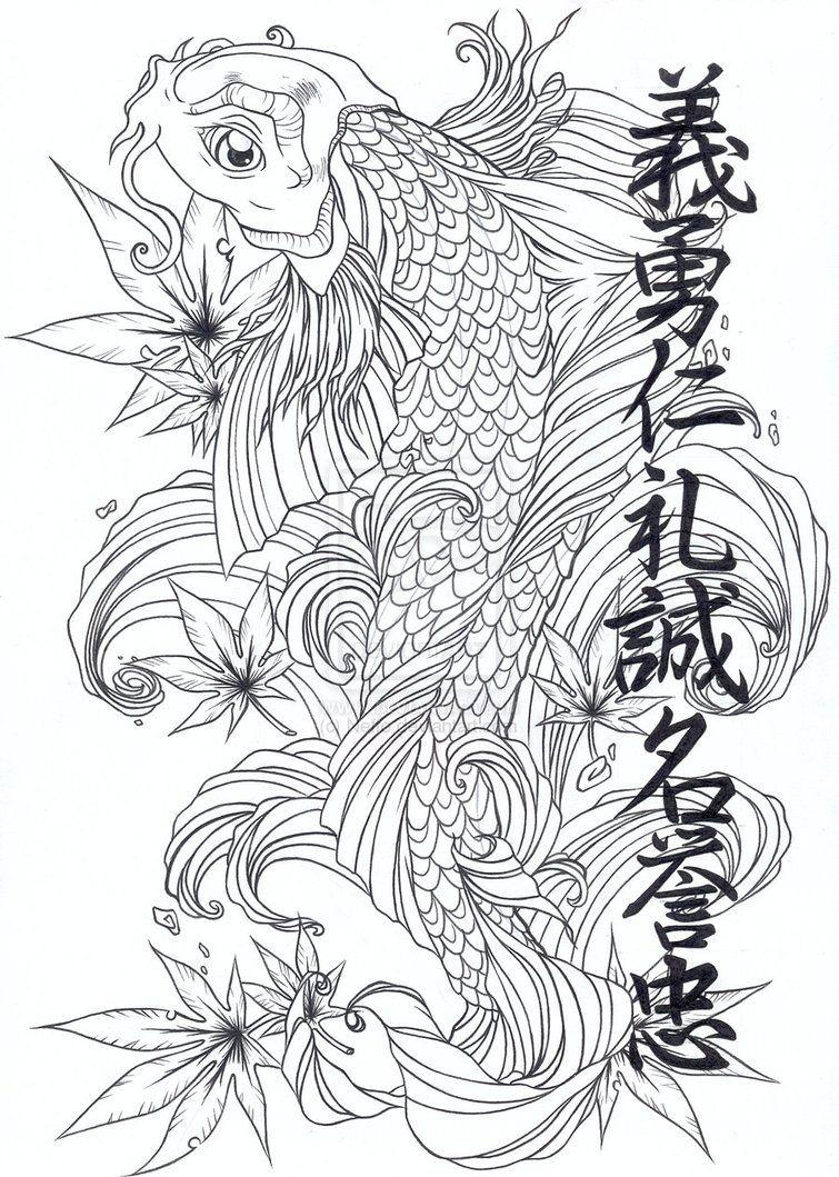 Oriental Stencils Designs Free Download Koi Japanese Kanji Asian