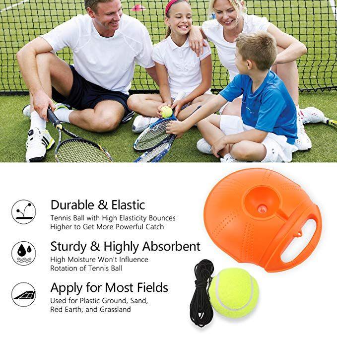 Tennis Self Practice Tennis Ball Rebound Player with 2 Balls Tennis Trainer