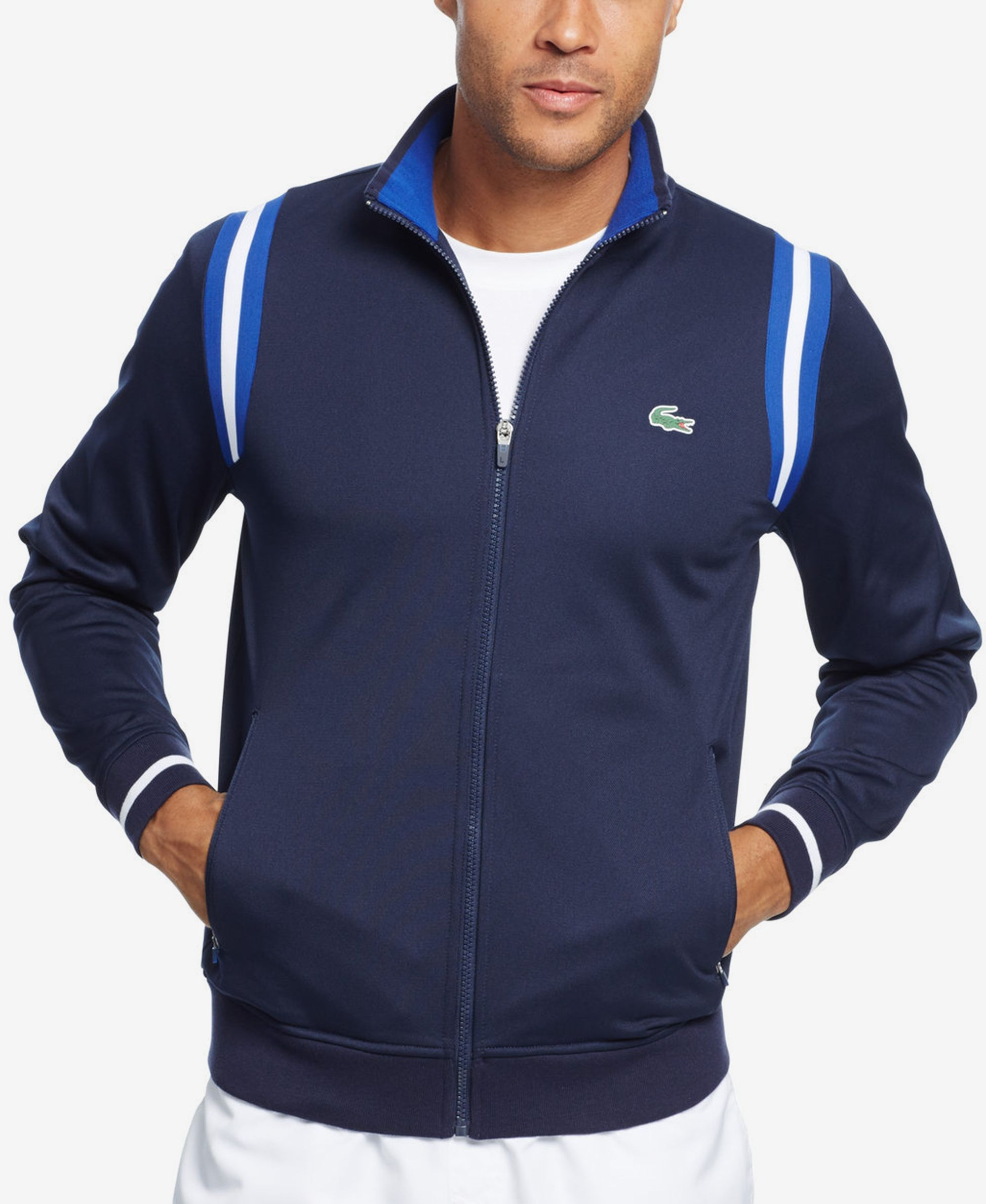 379984a82c Lacoste Men's Taped Track Jacket | Men's. | Lacoste, Lacoste men ...