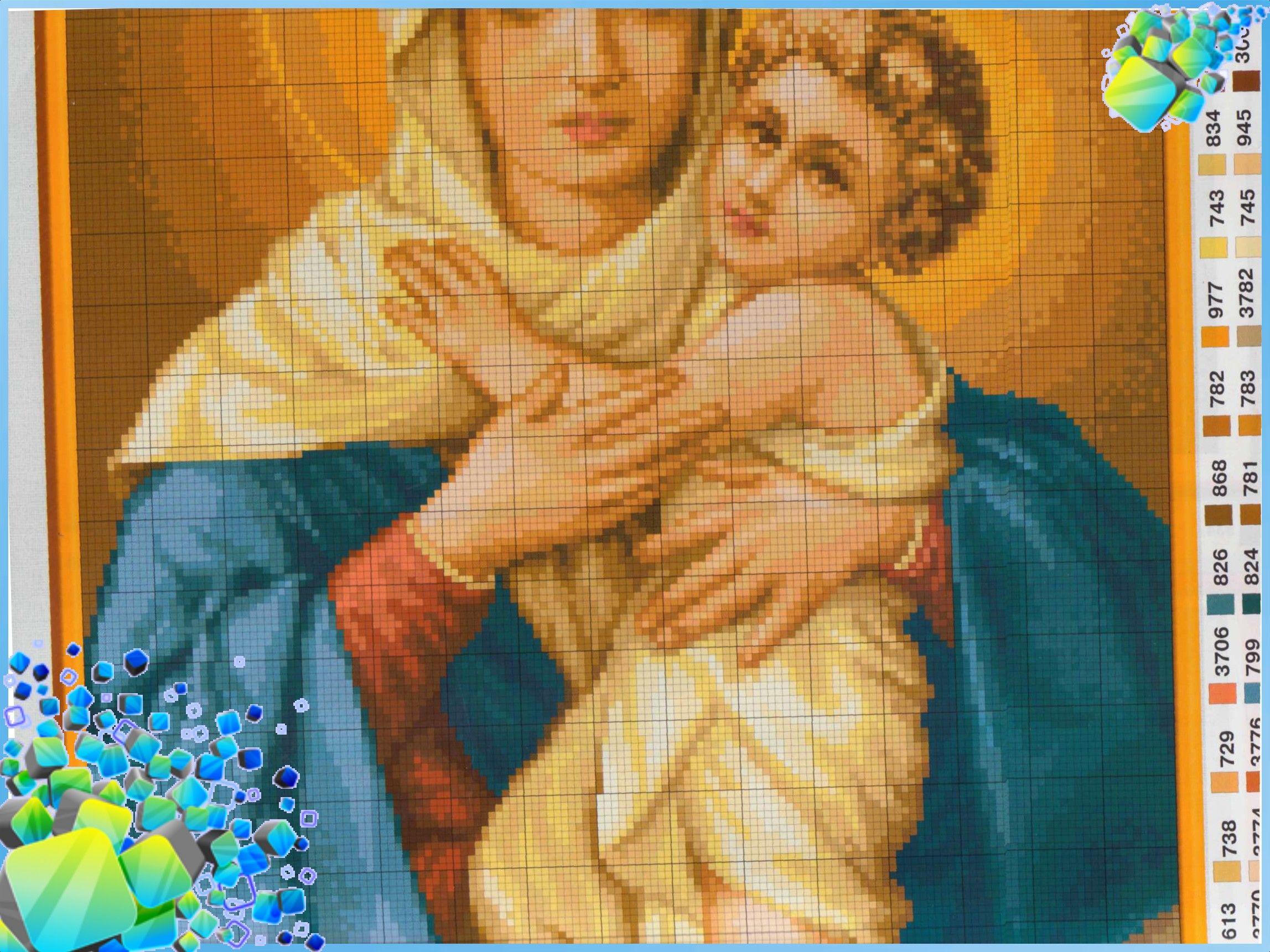схемы для вышивки крестом к дню матери