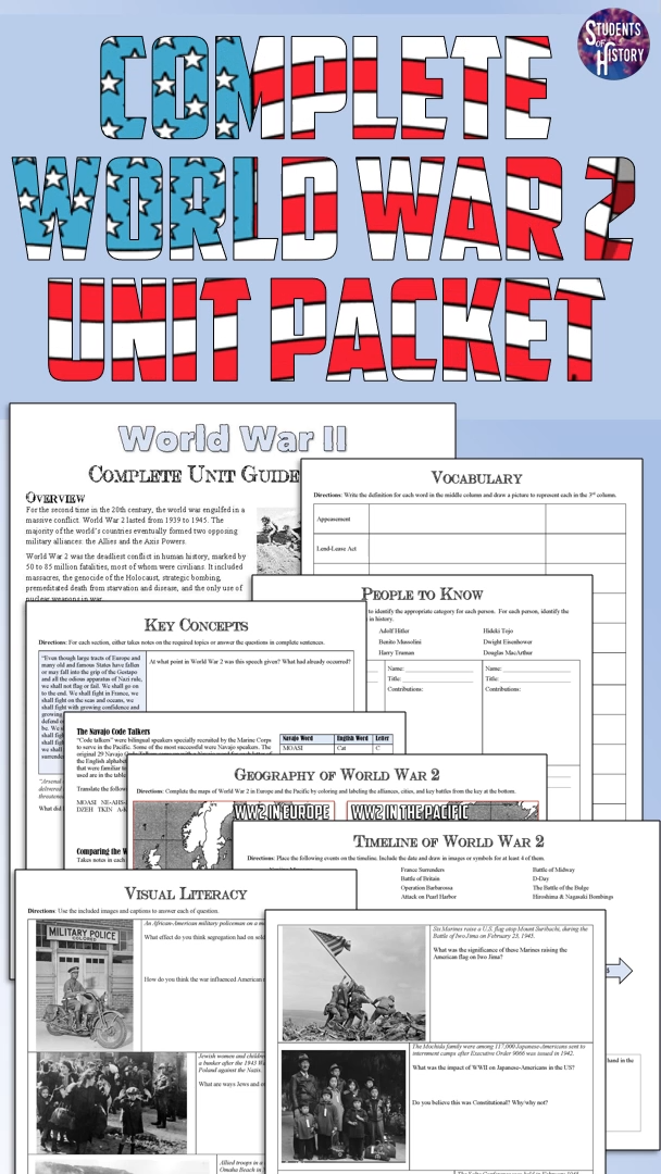 Photo of World War 2 Activities Packet