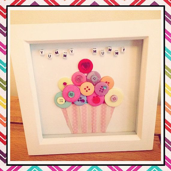 cute button cupcake gift 6 frame choose wording i like you more than cake or yummy mummy
