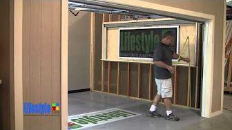 Screenex Retractable Pull Down Garage Door Screen Installation Youtube Garage Screen Door Screen Door Garage Doors