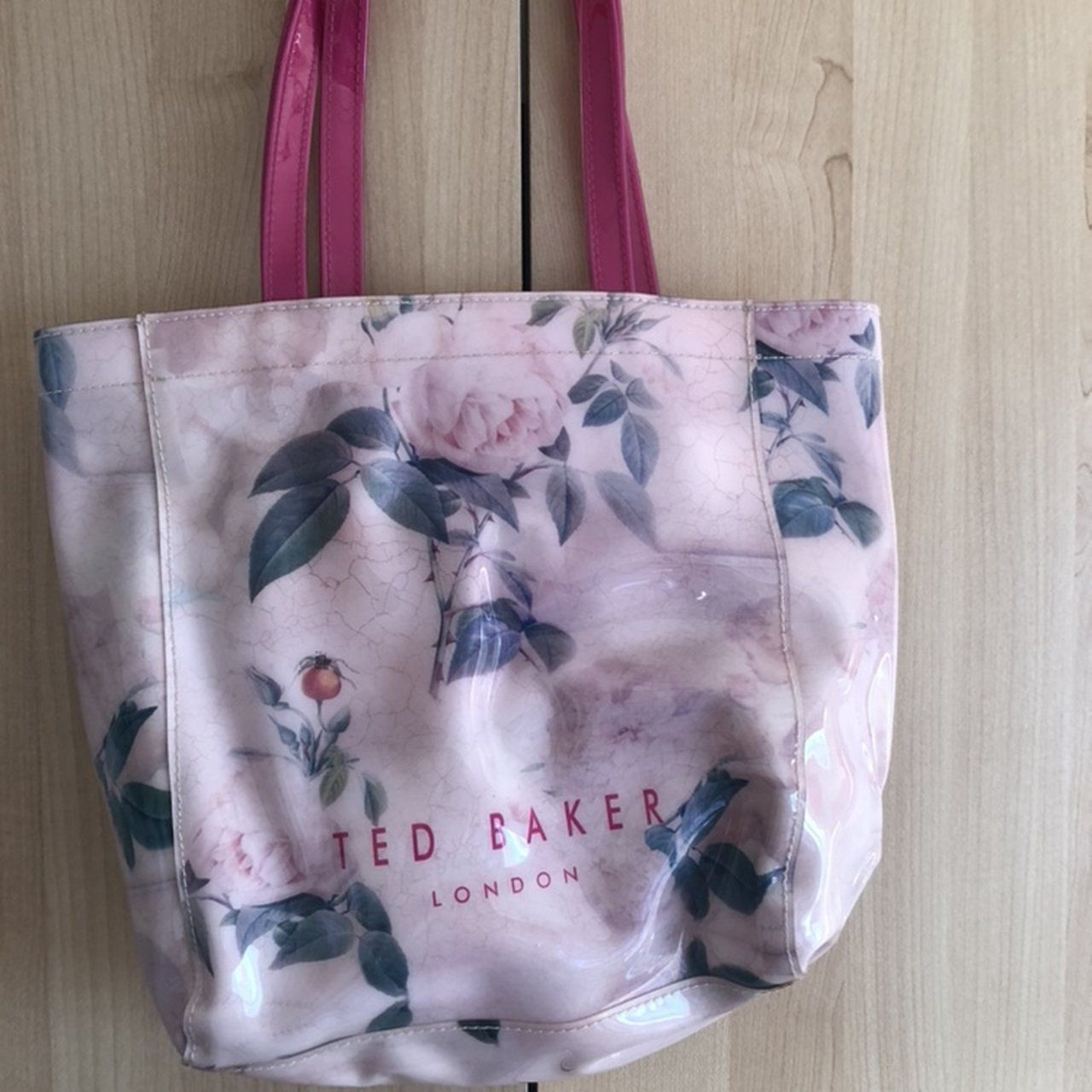 73dd107c86c 🌸💫Ted Baker patent tote bag in floral print💫🌸 Barely in - Depop ...