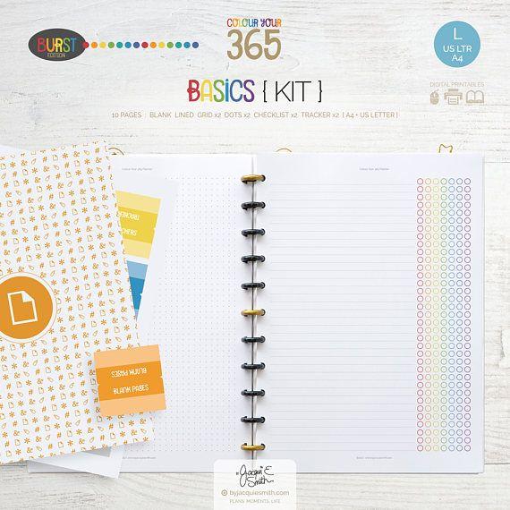 Printable Planner Blank Page Refills \u003e A4 + US Letter - Printable