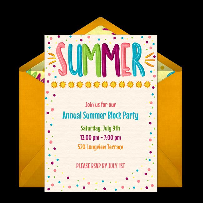 party invite online