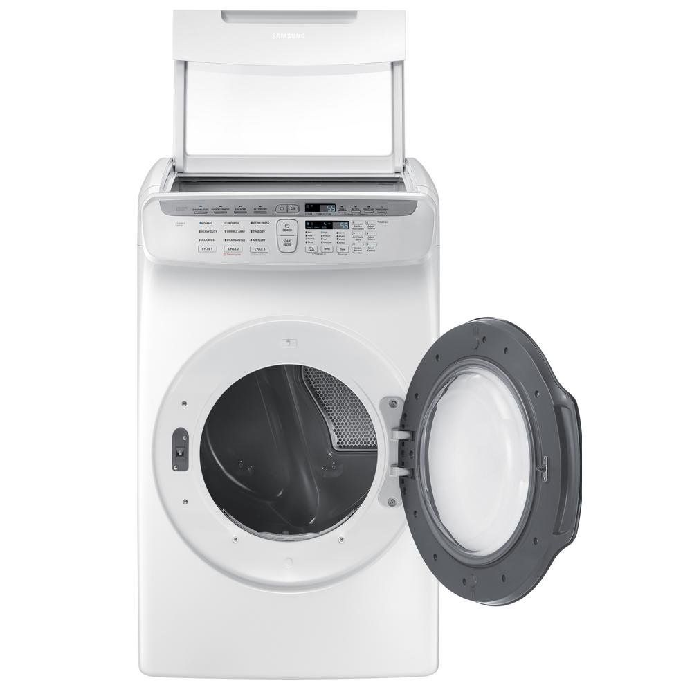 Samsung Flexdry Electric Dryer 7 5 Cu Ft White Gas Dryer Dryer Samsung Washer