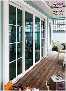 ประต บานเล อนส Upvc กระจกเข ยวต ดแสง หนา 6mm ร น Vignet British Luxury ประต กระจก การตกแต งห องน งเล น บ าน