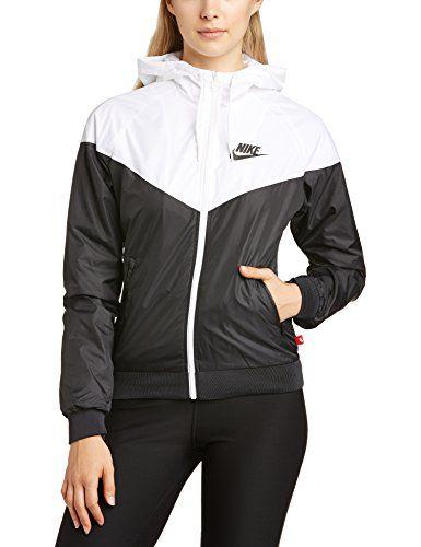 Nike windrunner w veste noir blanc