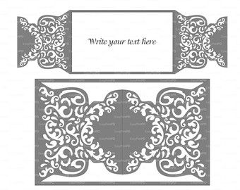 Wedding invitation pattern card template lace folds studio v3 wedding invitation pattern card template lace folds studio v3 svg dxf ai eps png pdf lasercut instant download silhouette cameo stopboris Images