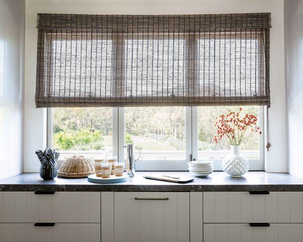 Natural woven flat fold shades 15325 delphi smoke smith for Natural woven flat fold shades