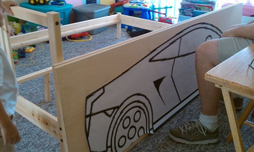 ikea hackers race car bed let the kids zoom off to sleep in their