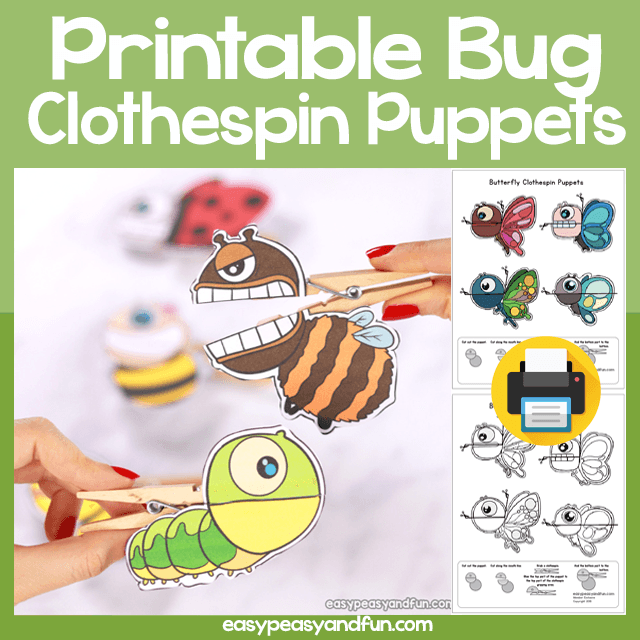 Bugs Clothespin Puppets Easy Peasy And Fun Puppets Clothes Pins Bug Crafts