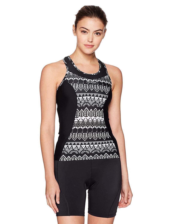 Women's Performance Tri Racerback Shirt - Surf Graffiti - CB12NTKPTRU - Sports & Fitness Clothing, W...