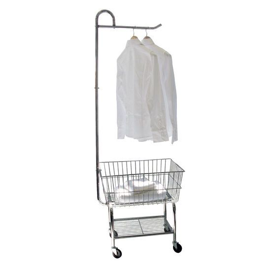 For My Mini Laundry Mat Rolling Chrome Laundry Cart W Garment
