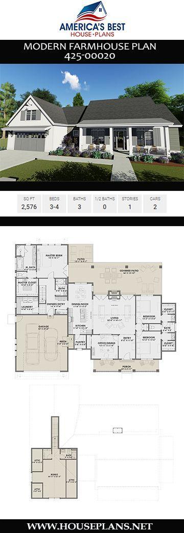 Modern Farmhouse House Plan 425