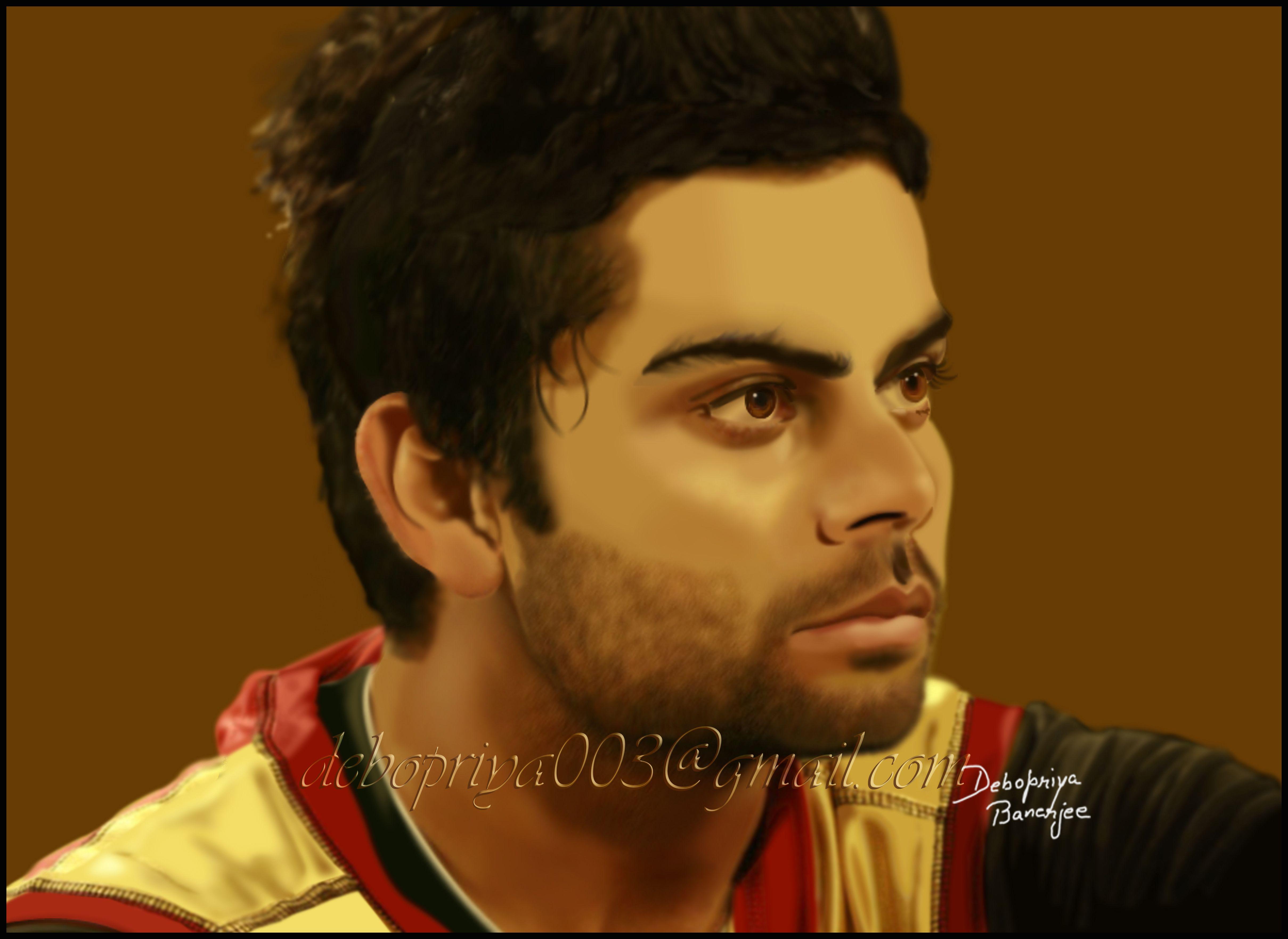 Digital painting of Virat Kohli....done by me
