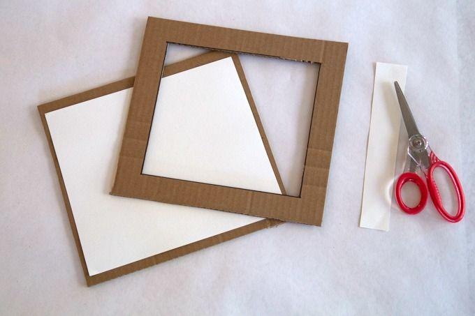 Diy Cardboard Frame With Kids Art As A Handmade Gift Idea