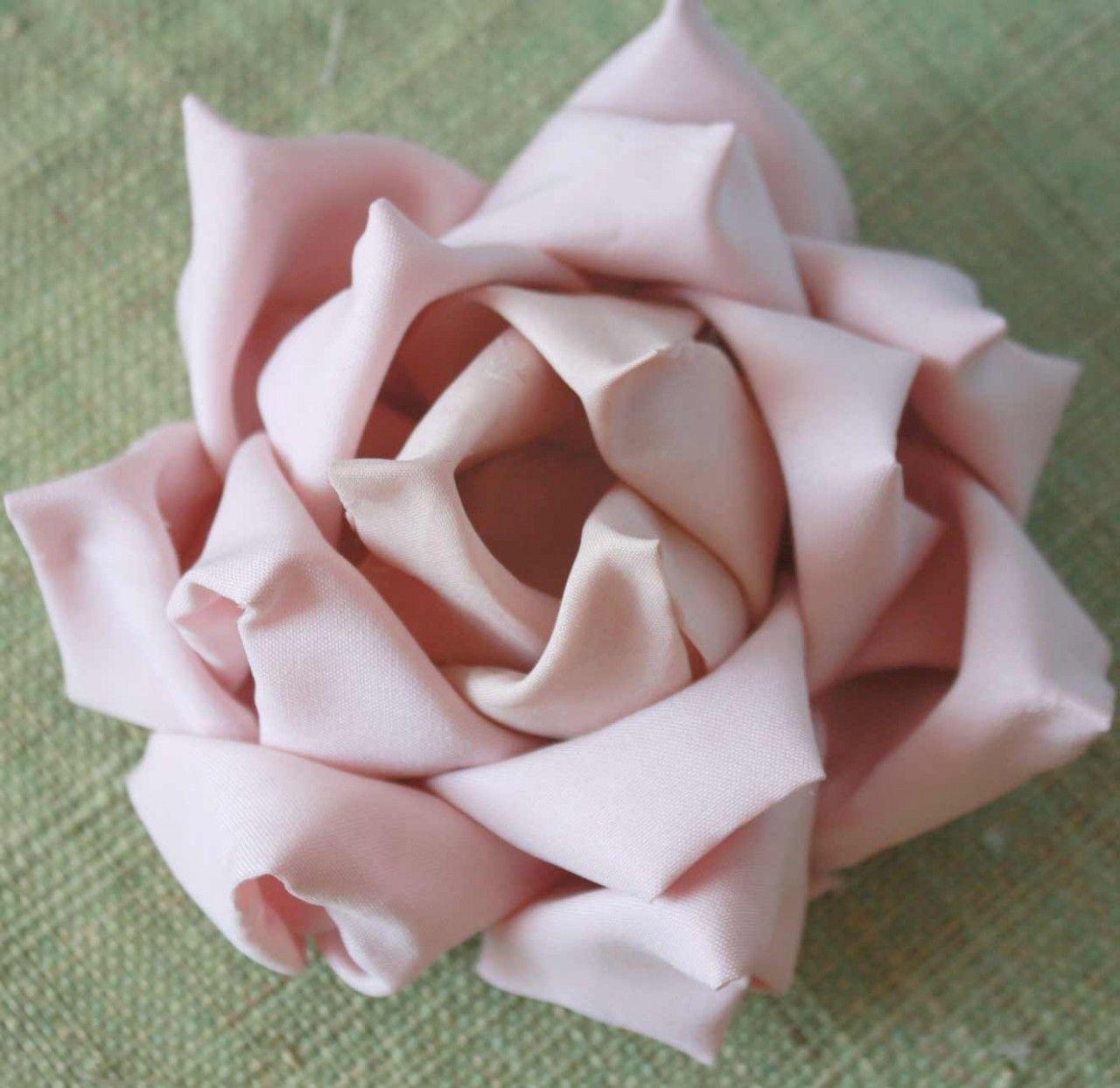 Fabric Flower Wedding Bouquet Tutorial: Mayumi Rose Fabric Origami Flower Tutorial (Instant