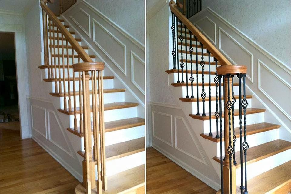 Best Upscale Railing Ornate Wrought Iron Replacing Wood 400 x 300