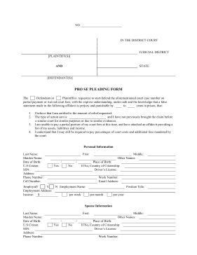 The Pro Se Pleading Form Is The Perfect Free Printable For People
