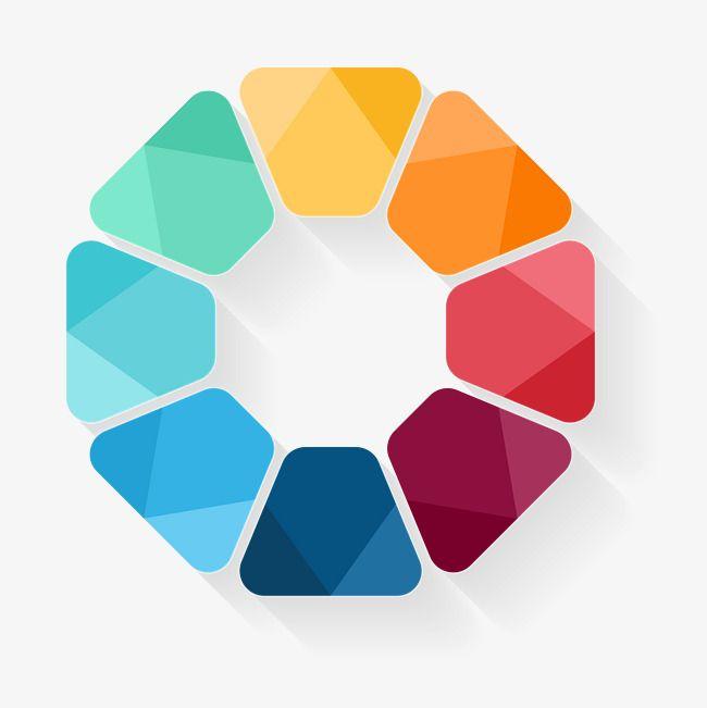 Free Powerpoint Art Templates: Vector Round Frame Material Ppt, Vector Border, Circular